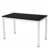 AmeliaHome - Minimalistyczne biurko Czarno Białe MINIMAL