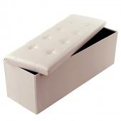 Praktyczne siedzisko do przechowywania puf dekoracyjny CREAMY