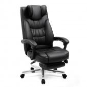 AmeliaHome - Nowoczesne krzesło biurowe Czarne DRAFT