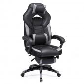 AmeliaHome - Krzesło biurowe Czarno Szare UNIQUE
