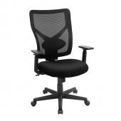 Krzesło obrotowe biurowe czarne do gabinetu HOFF