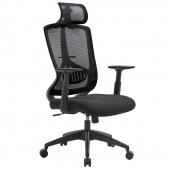 AmeliaHome - Krzesło biurowe Czarne SPACE