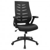Krzesło biurowe Regulowane Obrotowe Czarne SPINO