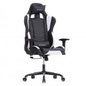 AmeliaHome - Designerskie krzesło do gier Czarno Białe PRO