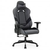 AmeliaHome – Klasyczne Krzesło do gier Czarno Szare GAME