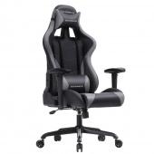 AmeliaHome - Profesjonalne krzesło do gier Czarno Szare GAMER