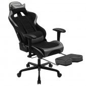 AmeliaHome - Profesjonalne krzesło do gier Czarno Szare MASTER