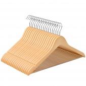 AmeliaHome - Zestaw wieszaków na ubrania drewnianych 20 sztuk RUSTIC