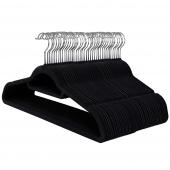 AmeliaHome - Zestaw wieszaków na ubrania 100 sztuk Czarnych CLASSIC