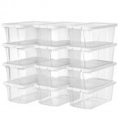 AmeliaHome - Zestaw pudełek do przechowywania 12 sztuk Przezroczystych SIMPLE