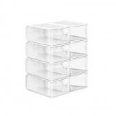 AmeliaHome - Zestaw pudełek do przechowywania 8 sztuk Przezroczystych PUZZLE