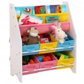 AmeliaHome - Półka do przechowywania zabawek Multikolor RAINBOW