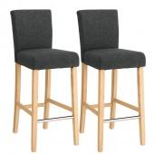 AmeliaHome - Stylowe krzesła do jadalni 2 sztuki Czarne MEDIOLAN