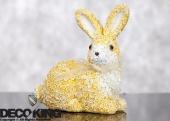 DecoKing - Zając Wielkanocny w kwiaty - Żółty