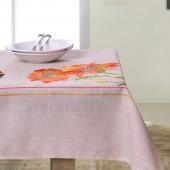 DecoKing - Obrus w pomarańczowe kwiaty - 40x140 cm