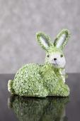 DecoKing - Zając Wielkanocny w kwiaty - Zielony