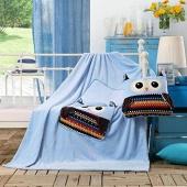 Koc dziecięcy – Cuties – Sowy - Niebieski - 110x160 cm