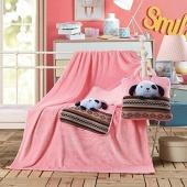Koc dziecięcy – Cuties – Piesek - Różowy - 110x160 cm