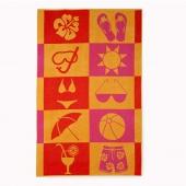 DecoKing - Ręcznik Plażowy Bawełniany HOLLY WAKACJE