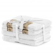 DecoKing - Ręcznik kąpielowy Bambusowy Gładki Biały BAMBY