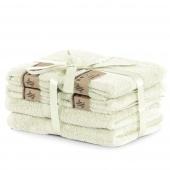 DecoKing - Ręcznik kąpielowy Bambusowy Gładki Kremowy BAMBY