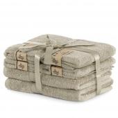 DecoKing - Ręcznik kąpielowy Bambusowy Gładki Beżowy BAMBY