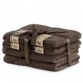 DecoKing - Ręcznik kąpielowy Bambusowy Gładki Brązowy BAMBY