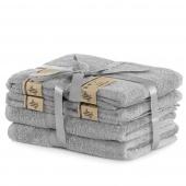 DecoKing - Ręcznik kąpielowy Bambusowy Gładki Szary BAMBY