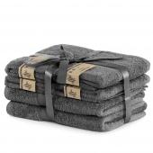 DecoKing - Ręcznik kąpielowy Bambusowy Gładki Grafitowy BAMBY