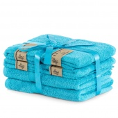 DecoKing - Ręcznik kąpielowy Bambusowy Gładki Turkusowy BAMBY