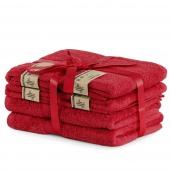 DecoKing - Ręcznik kąpielowy Bambusowy Gładki Bordowy BAMBY