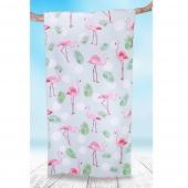 DecoKing - Ręcznik Plażowy Szybkoschnący LAGOON WE FLAMINGI