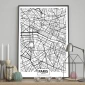 DecoKing - Plakat ścienny – Map - Paris