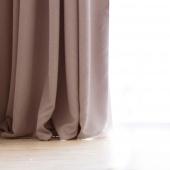 DecoKing - Zasłony Welurowe Beżowe Gładkie PIERRE 140cm x 270cm