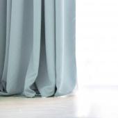 DecoKing - Zasłony Welurowe Niebieskie Gładkie PIERRE 140cm x 270cm