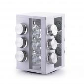 DecoKing - Elegancki Zestaw Pojemników na przyprawy Biały HARPER