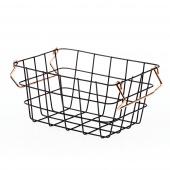 DecoKing - Minimalistyczny Koszyk Metalowy Mały Czarny HARPER