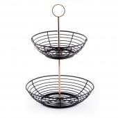 DecoKing - Minimalistyczny Koszyk na owoce Czarny HARPER