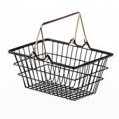 DecoKing - Minimalistyczny Koszyk z rączką Czarny HARPER