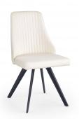 Tapicerowane krzesło z eco skóry Pikowane Białe FORTAL
