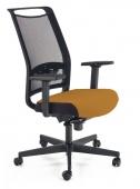 Krzesło biurowe Obrotowe Czarno Pomarańczowe GIBER