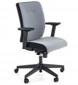 Obrotowe krzesło biurowe do gabinetu Regulowane Szare GRELLI