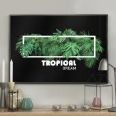 DecoKing - Plakat ścienny - Tropical Frame