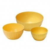Misy plastikowe DELICIA - zestaw 3 szt - Żółte