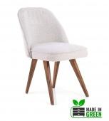 Made in Green Klasyczne krzesło tapicerowane z recyklingu Beżowe RECYL