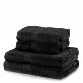 DecoKing - Ręcznik Bawełniany Czarny MARINA GŁADKI