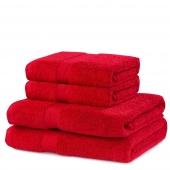 DecoKing - Ręcznik Bawełniany Czerwony MARINA GŁADKI