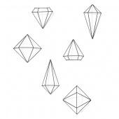 Umbra - Dekoracje ścienne Geometryczne 6  szt. Czarne PRISMA