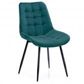 Krzesło Welurowe Tapicerowane Pikowane do Jadalni Salonu Morskie ALGATE