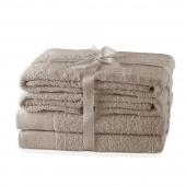 AmeliaHome - Ręcznik kąpielowy Bawełniany Gładki Beżowy AMARI